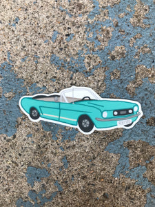 Vintage Blue Car Sticker