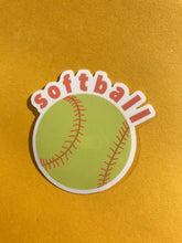 Load image into Gallery viewer, Softball Stickers