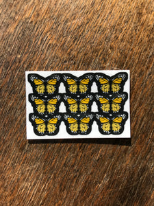 "Yellow 0.5"" Mini Butterfly Stickers"