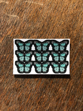 "Load image into Gallery viewer, Aqua 0.5"" Mini Butterfly Stickers"