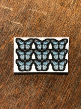 "Load image into Gallery viewer, Light Blue 0.5"" Mini Butterfly Stickers"