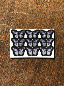 "Lilac 0.5"" Mini Butterfly Stickers"