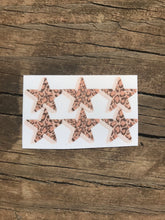 Load image into Gallery viewer, Cheetah Print Mini Star Stickers