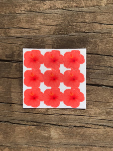 Mini Hibiscus Stickers