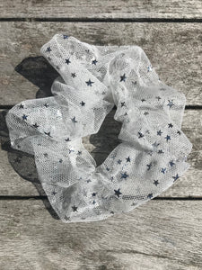 Silver Starshine Scrunchie
