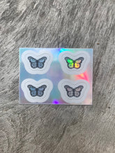 Load image into Gallery viewer, Holographic Mini Butterfly Sticker Pack