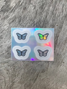 Holographic Mini Butterfly Sticker Pack
