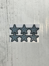 Load image into Gallery viewer, Blue Leopard Print Mini Star Stickers