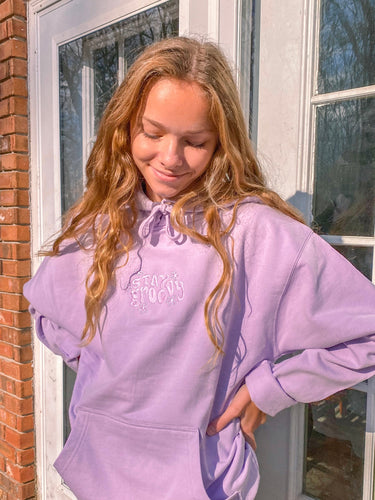 Lilac Stay Groovy Hoodie