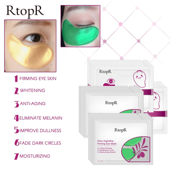 RTOPR 5 piece packs of Under Eye Masks. - silver-beauty-products