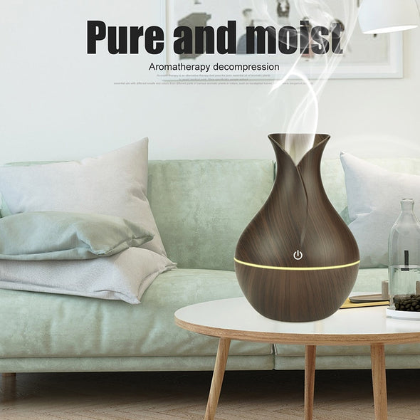 Aromatherapy humidifier oil diffuser Wood Grain