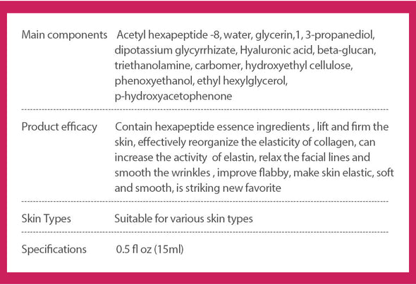 Argireline Collagen Peptides Face Serum