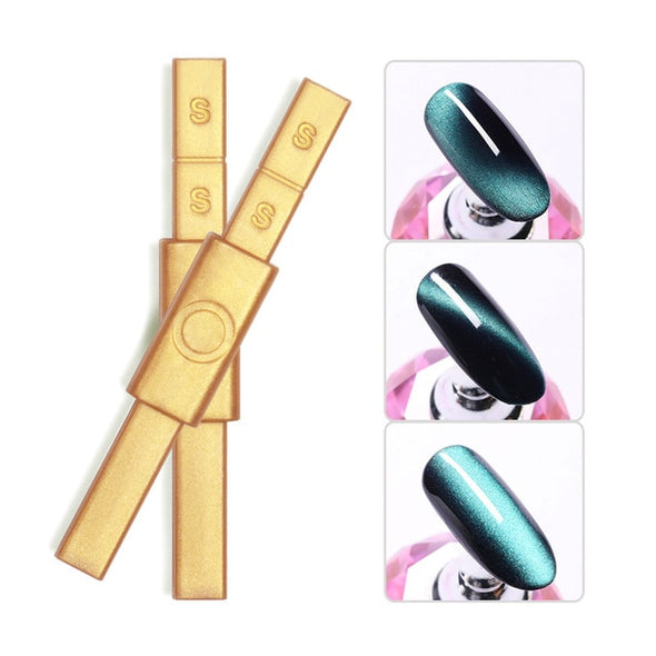 LILYCUTE  Nail Art  Double Headed Magnet Stick for Cat Eye & Polish - silver-beauty-products