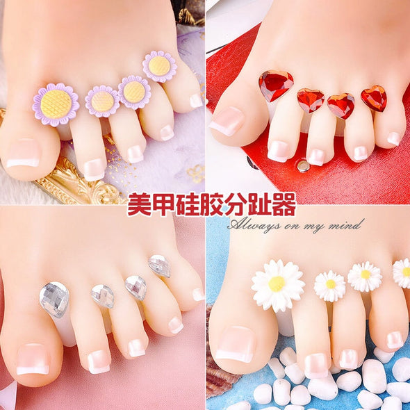 Adorable 8pcs/Lot Soft Silicone Toe Separators - silver-beauty-products