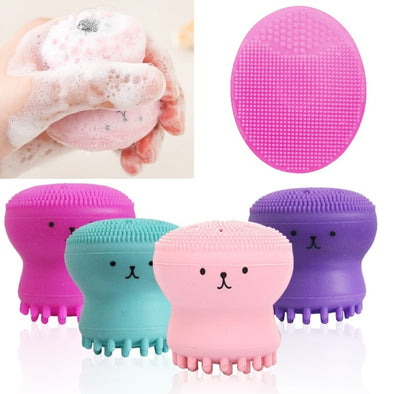 Silicone Octopus Shape Facial Cleanser 4 Color - silver-beauty-products