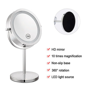 7 Inch 10x Magnification Circular Makeup Mirror