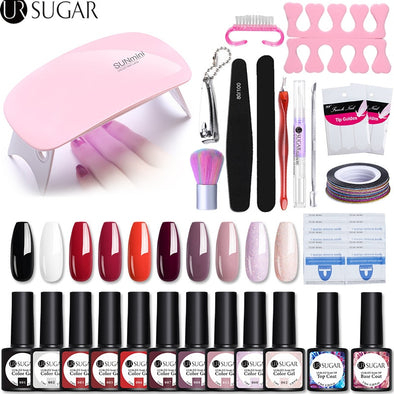 UR SUGAR Gel Polish Nail Art UV Manicure Kit