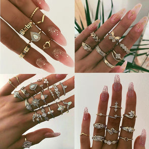 DIEZI Different Style Rings Sets