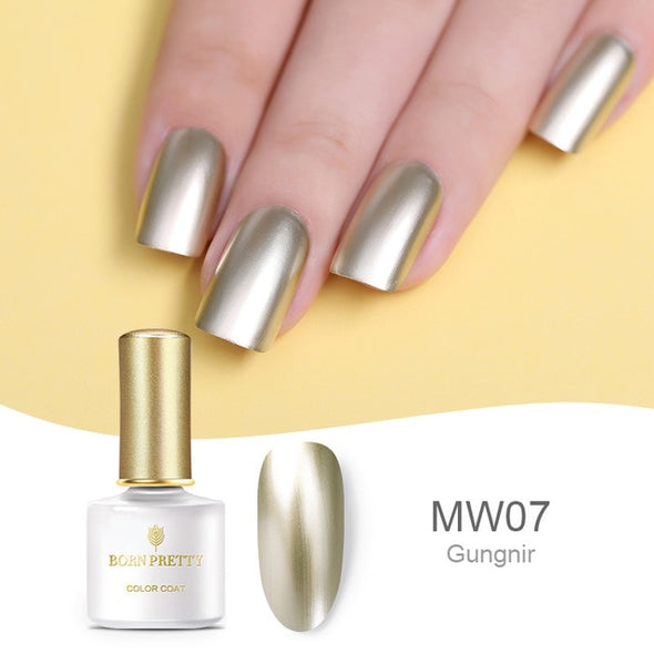 BORN PRETTY Mirror Metal Nail Polish UV Gel - silver-beauty-products
