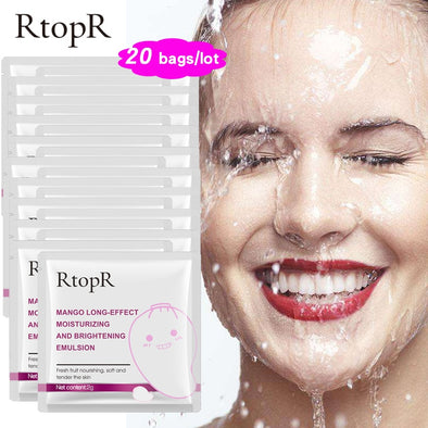 RTOPR 20PCS/Lot  Mango Long-Effect Moisturizing And Brightening Emulsion - silver-beauty-products