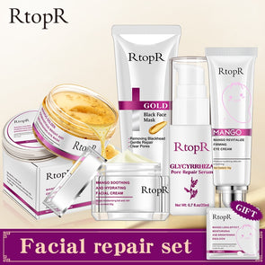 RTOPR 5 piece Anti-Aging Nourishing Set. Purchase individually or as a set. - silver-beauty-products