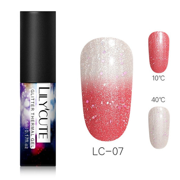 LILYCUTE Thermal Nail Gel Polish - silver-beauty-products