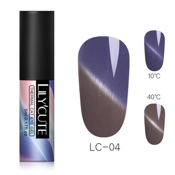 LILYCUTE Temperature Change Color Thermal Gel Nail Polish - silver-beauty-products