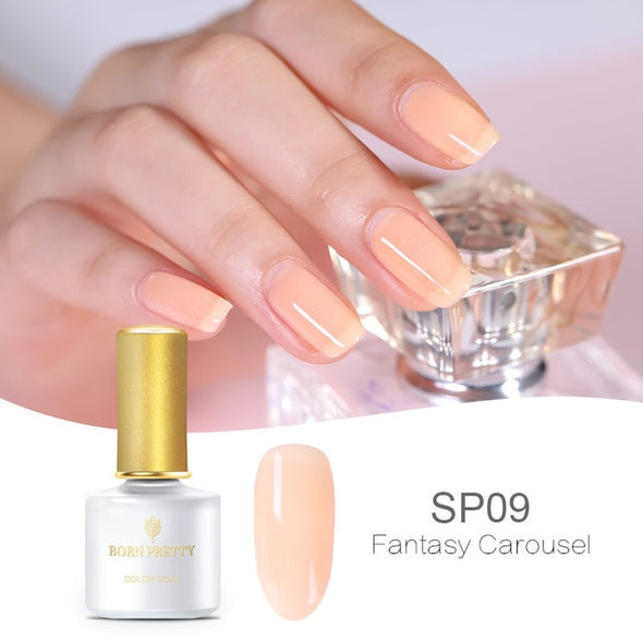 BORN PRETTY Pink Jelly Nail Gel Polish - silver-beauty-products