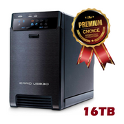 "Hyperspin MEGA-SYSTEMS 16TB External HDD 3.5 "" 2-Bays USB 3.0 RAID-0-Hyperspin Systems™"