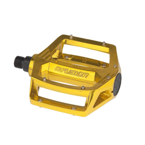 "HARO FUSION PEDALS 9/16"" GOLD"