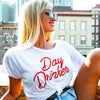 Day Drinker Crop Top in White