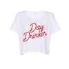 Day Drinker Crop Top - White