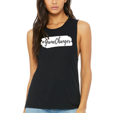 Load image into Gallery viewer, Fempire Flowy Scoop Muscle Tank - Black