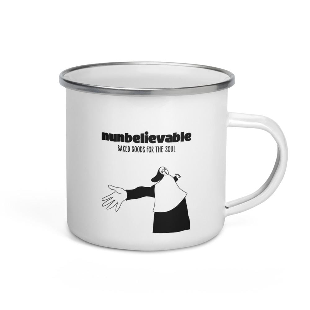 Nunbelievable 11 Oz Enamel Mug - Cookies & Coffee. Paradise.