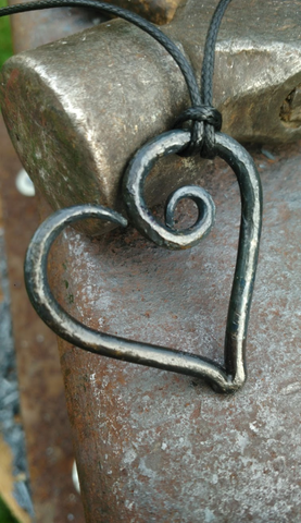 Forged Steel Heart Necklace