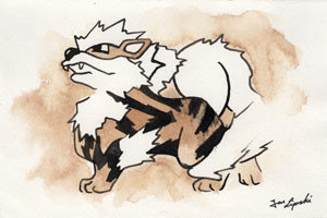 Arcanine Ink Drawing