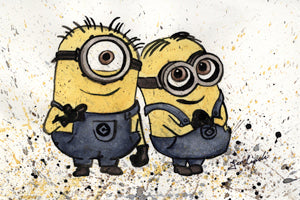 Minions Ink Drawing