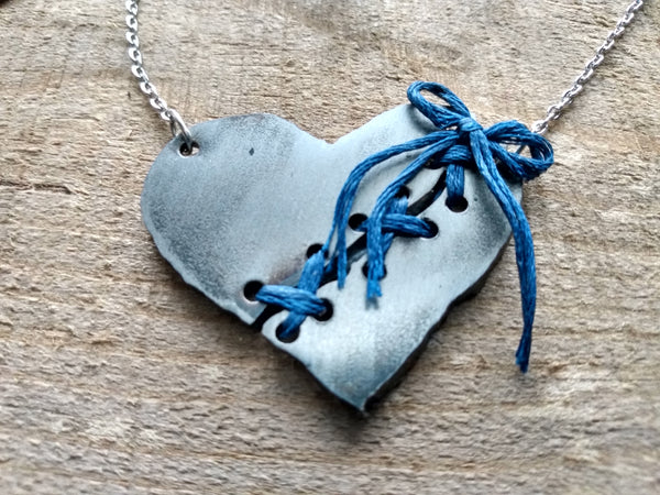 Silver Broken Heart Necklace