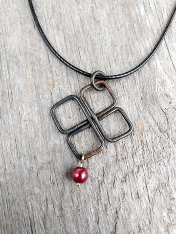Celtic Knot Forged Steel Necklace