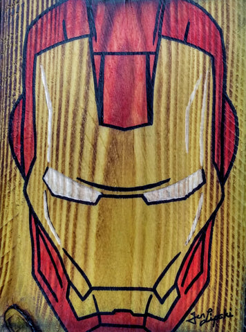 Iron Man Wood Artwork