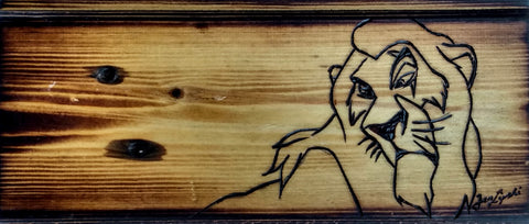 Scar (Lion King) Woodburning