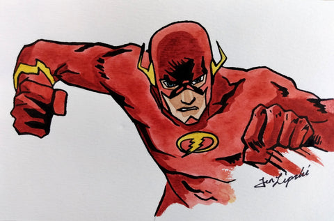 The Flash Ink Drawing