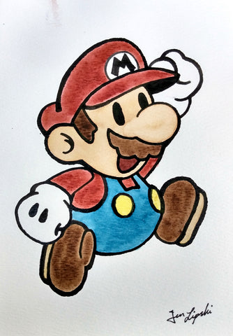 Super Mario Ink Drawing