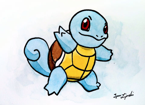 Squirtle Ink Drawing