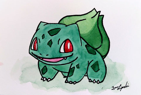 Bulbasaur Ink Drawing