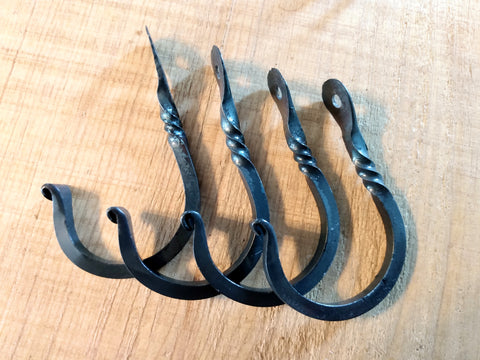 Medium Forge-Twisted Wall Hooks