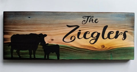 Personalized Plaque + Hook Board - Farm Theme