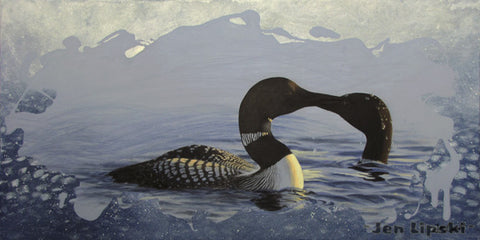 Kissing Loons (Giclee Print)
