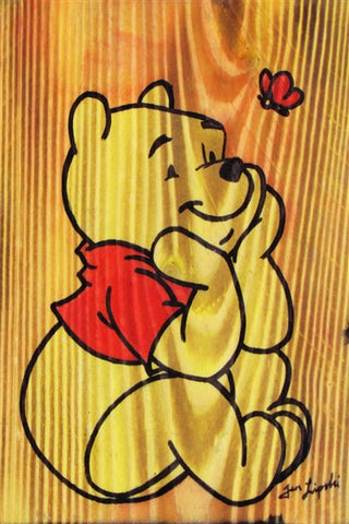 Pooh Bear Wood Artwork