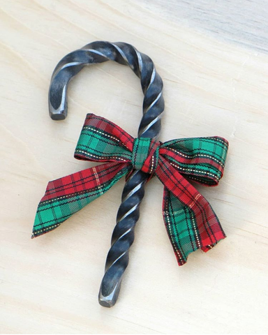 Forged Steel Candy Cane Ornament